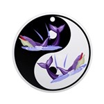 Yin Yang Dolphins Ornament (Round)