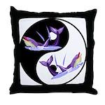 Yin Yang Dolphins Throw Pillow