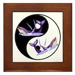 Yin Yang Dolphins Framed Tile