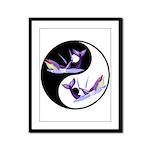Yin Yang Dolphins Framed Panel Print