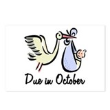 Due In October Stork Postcards (Package of 8)