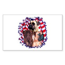 Bullmastiff 4 Rectangle Decal