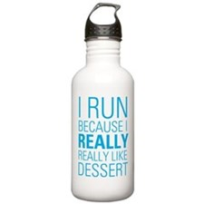 I RUN FOR DESSERT Water Bottle