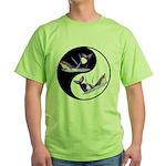 Yin Yang Dolphins Green T-Shirt