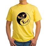 Yin Yang Dolphins Yellow T-Shirt