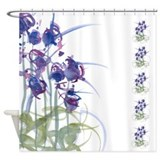 Atom Flowers #39 Shower Curtain