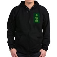 Keep Calm and Home Brew Zipped Hoodie