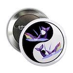 Yin Yang Dolphins Button