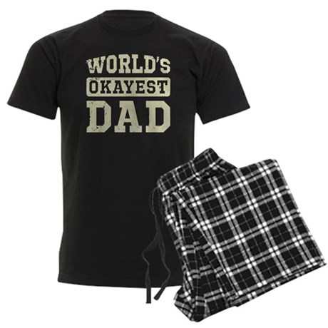 Vintage World's Okayest Dad Men's Dark Pajamas
