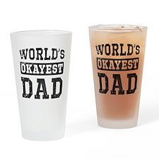 Vintage World's Okayest Dad Drinking Glass