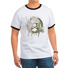 Wiccan Pentacle Beautiful Fairy T-Shirt