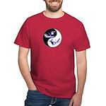 Yin Yang Dolphins Dark T-Shirt