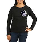 Yin Yang Dolphins Women's Long Sleeve Dark T-Shirt