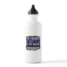 My Battle Too 2 H Lymphoma Water Bottle