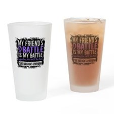 My Battle Too 2 H Lymphoma Drinking Glass