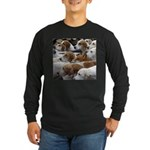 The Foxed Long Sleeve Dark T-Shirt