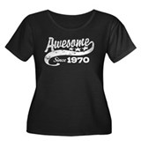 Awesome Since 1970 Women's Plus Size Scoop Neck Da