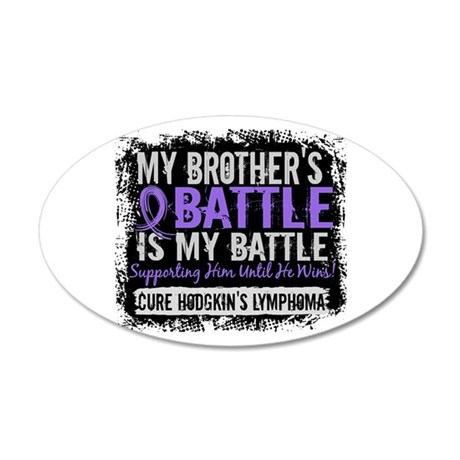My Battle Too 2 H Lymphoma 20x12 Oval Wall Decal