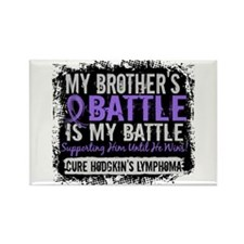 My Battle Too 2 H Lymphoma Rectangle Magnet (100 p