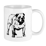 Black & White Bulldog Mug