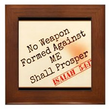 Isaiah 54:17 Framed Tile