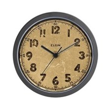 Elgin vintage dieselpunk wall clock