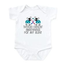 Thyroid Cancer Support Aunt Infant Bodysuit