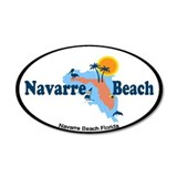 Navarre Beach - Map Design. Wall Sticker