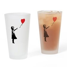 Banksy - Little Girl with Ballon Drinking Glass