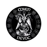 "COVEN NEVOC Goat LOGO 3.5"" Button"