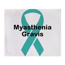 Myasthenia Gravis Awareness Throw Blanket