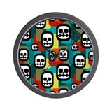 Skull Wall Clock
