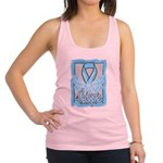 Hope Butterfly Prostate Cancer Racerback Tank Top