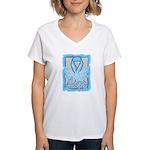 Hope Butterfly Prostate Cancer Women's V-Neck T-Sh
