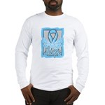 Hope Butterfly Prostate Cancer Long Sleeve T-Shirt