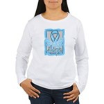 Hope Butterfly Prostate Cancer Women's Long Sleeve