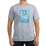 Hope Butterfly Prostate Cancer Men's Fitted T-Shir
