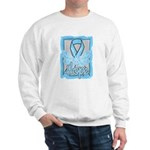 Hope Butterfly Prostate Cancer Sweatshirt
