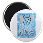 Hope Butterfly Prostate Cancer Magnet