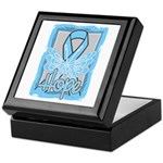 Hope Butterfly Prostate Cancer Keepsake Box