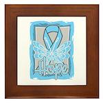 Hope Butterfly Prostate Cancer Framed Tile