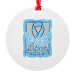 Hope Butterfly Prostate Cancer Round Ornament