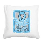 Hope Butterfly Prostate Cancer Square Canvas Pillo