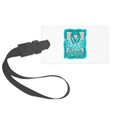 Hope Butterfly Ovarian Cancer Luggage Tag