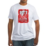 Hope Butterfly Oral Cancer Fitted T-Shirt