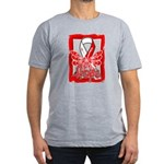 Hope Butterfly Oral Cancer Men's Fitted T-Shirt (d