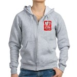 Hope Butterfly Oral Cancer Women's Zip Hoodie