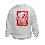 Hope Butterfly Oral Cancer Kids Sweatshirt