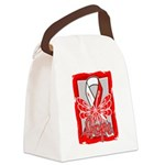 Hope Butterfly Oral Cancer Canvas Lunch Bag