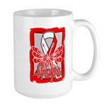 Hope Butterfly Oral Cancer Large Mug